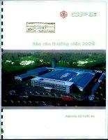 Báo cáo thường niên năm 2009 - Công ty cổ phần Dược phẩm OPC