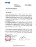 Báo cáo tài chính công ty mẹ năm 2011 (đã kiểm toán) - Ngân hàng Thương mại Cổ phần Việt Nam Thịnh Vượng