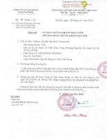 Nghị quyết Hội đồng Quản trị - Công ty Cổ phần Tập đoàn Vinacontrol