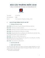 Báo cáo thường niên năm 2010 - Công ty Cổ phần Vận tải và Dịch vụ Petrolimex Hà Tây