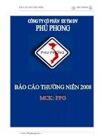 Báo cáo thường niên năm 2008 - Công ty Cổ phần Sản xuất Thương mại Dịch vụ Phú Phong