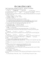 Ôn thi công chức môn tin học văn phòng 130 câu trắc nghiệm có đáp án