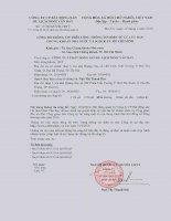 Nghị quyết Hội đồng Quản trị - Công ty Cổ phần Bất động sản Du lịch Ninh Vân Bay