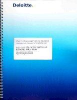 Báo cáo tài chính hợp nhất năm 2013 (đã kiểm toán) - Công ty Cổ phần Vận tải Xăng dầu VIPCO
