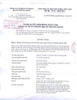 Nghị quyết Hội đồng Quản trị ngày 21-11-2011 - Công ty cổ phần Tư vấn-Thương mại-Dịch vụ Địa ốc Hoàng Quân