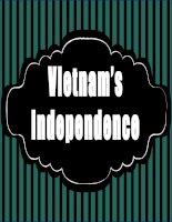 Vietnam independence editable docs