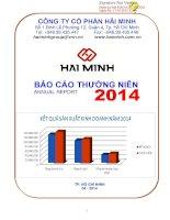 Báo cáo thường niên năm 2014 - Công ty Cổ phần Hải Minh