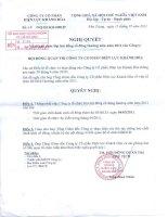 Nghị quyết Hội đồng Quản trị ngày 15-2-2011 - Công ty Cổ phần Điện lực Khánh Hòa