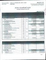 Báo cáo tài chính công ty mẹ quý 4 năm 2012 - Công ty Cổ phần Hữu Liên Á Châu