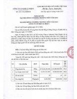 Nghị quyết Đại hội cổ đông thường niên năm 2013 - CTCP Khí cụ Điện 1