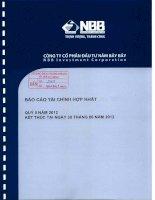 Báo cáo tài chính hợp nhất quý 2 năm 2012 - Công ty Cổ phần Đầu tư Năm Bảy Bảy