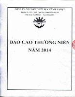 Báo cáo thường niên năm 2014 - Công ty cổ phần Thiết bị Y tế Việt Nhật