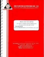 Báo cáo tài chính năm 2012 (đã kiểm toán) - Công ty cổ phần Tập đoàn Thiên Quang