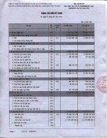 Báo cáo tài chính quý 1 năm 2012 - Công ty Cổ phần Kỹ thuật và Ô tô Trường Long