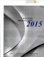 Báo cáo thường niên năm 2015 - Công ty cổ phần Tập đoàn Thiên Quang
