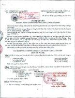 Nghị quyết Đại hội cổ đông thường niên năm 2011 - Công ty Cổ phần Vận tải Hà Tiên