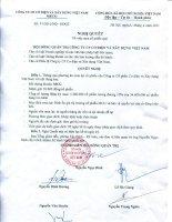 Nghị quyết Hội đồng Quản trị ngày 24-2-2011 - Công ty Cổ phần Cơ điện và Xây dựng Việt Nam