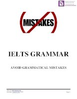 Grammar Mistakes in IELTS tests ( IELTS Simons tips )