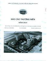 Báo cáo thường niên năm 2013 - Công ty Cổ phần Đầu tư và Phát triển Bất động sản HUDLAND