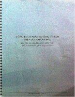 Báo cáo tài chính năm 2011 (đã kiểm toán) - Công ty Cổ phần Bê tông Ly tâm Điện lực Khánh Hòa