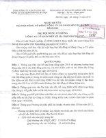 Nghị quyết Đại hội cổ đông thường niên - CTCP Bến xe Hà Nội