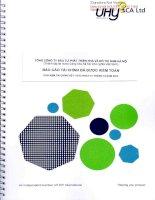 Báo cáo tài chính năm 2014 (đã kiểm toán) - Tổng Công ty Đầu tư Phát triển Nhà và Đô thị Nam Hà Nội
