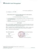 Nghị quyết Hội đồng Quản trị - Quỹ đầu tư tăng trưởng Manulife