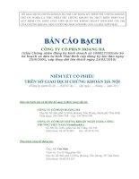 Bản cáo bạch - Công ty Cổ phần Hoàng Hà