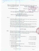 Nghị quyết Đại hội cổ đông thường niên - Công ty Cổ phần Kỹ nghệ Khoáng sản Quảng Nam