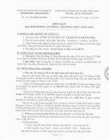 Nghị quyết Đại hội cổ đông thường niên - Công ty Cổ phần Đầu tư và Dịch vụ Khánh Hội