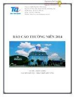 Báo cáo thường niên năm 2014 - Công ty cổ phần Tập đoàn Thiên Quang