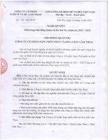 Nghị quyết Hội đồng Quản trị - Công ty cổ phần Supe Phốt phát và Hóa chất Lâm Thao