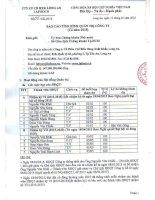 Báo cáo tình hình quản trị công ty - Công ty Cổ phần Chế biến Hàng xuất khẩu Long An