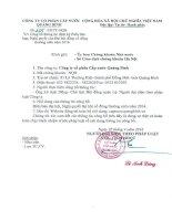 Nghị quyết Đại hội cổ đông thường niên - Công ty cổ phần Cấp nước Quảng Bình