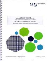 Báo cáo tài chính quý 2 năm 2015 (đã soát xét) - Tổng Công ty Đầu tư Phát triển Nhà và Đô thị Nam Hà Nội
