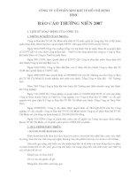 Báo cáo thường niên năm 2007 - Công ty Cổ phần Kim khí Thành phố Hồ Chí Minh