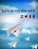 Báo cáo thường niên năm 2014 - Công ty cổ phần Du lịch - Dịch vụ Hội An