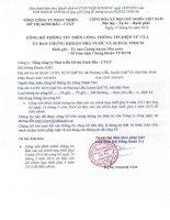 Báo cáo tài chính hợp nhất quý 4 năm 2013 - Tổng Công ty Phát triển Đô thị Kinh Bắc-CTCP