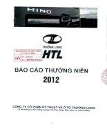 Báo cáo thường niên năm 2012 - Công ty Cổ phần Kỹ thuật và Ô tô Trường Long
