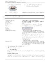 Báo cáo thường niên năm 2014 - Công ty Cổ phần Vận tải Hà Tiên