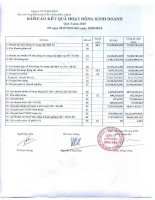 Báo cáo KQKD quý 3 năm 2010 - Công ty Cổ phần Long Hậu