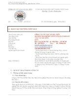 Báo cáo thường niên năm 2012 - Công ty Cổ phần Vận tải Hà Tiên