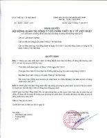 Nghị quyết Hội đồng Quản trị ngày 11-11-2011 - Công ty cổ phần Thiết bị Y tế Việt Nhật