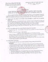 Nghị quyết Đại hội cổ đông thường niên năm 2011 - CTCP Vận tải biển & Hợp tác Quốc tế