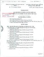 Nghị quyết Đại hội cổ đông thường niên năm 2010 - Công ty Cổ phần Cơ điện và Xây dựng Việt Nam