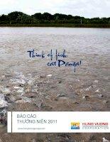 Báo cáo thường niên năm 2011 - Công ty Cổ phần Hùng Vương