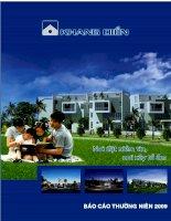 Báo cáo thường niên năm 2009 - Công ty Cổ phần Đầu tư Kinh doanh nhà Khang Điền