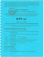 Bản cáo bạch - Công ty Cổ phần Tư vấn Dự án Quốc tế KPF