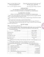 Nghị quyết Đại hội cổ đông thường niên năm 2012 - Công ty Cổ phần Bê tông Ly tâm Điện lực Khánh Hòa