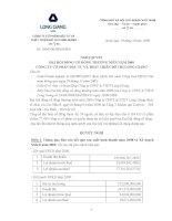 Nghị quyết đại hội cổ đông ngày 18-04-2009 - Công ty cổ phần Đầu tư và Phát triển Đô thị Long Giang